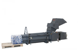 horizontal crusher-compactor / for PET bottles / automatic / robust