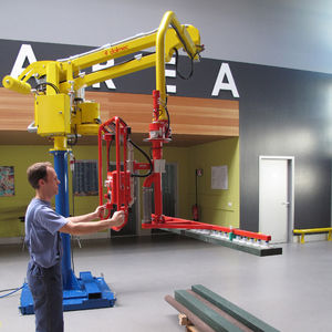 pneumatic manipulator / with suction cup / positioning / for gripping