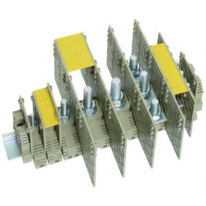 DIN rail-mounted terminal block
