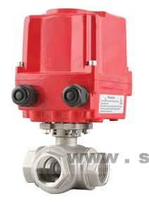 ball valve / electrically-operated / control / for water