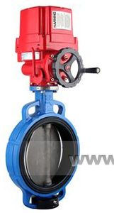 butterfly valve / electrically-actuated / control / for hot water