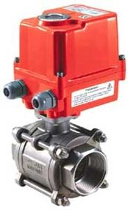 ball valve / electrically-operated / control / for hot water