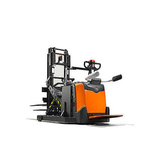 electric stacker truck / with rider platform / for pallets / for lifting