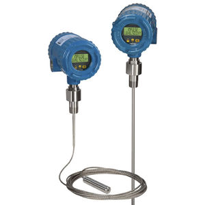 TDR-guided wave radar level sensor / for liquids / for slurry / maintenance-free