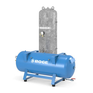 buffer tank / protection / for compressed air / metal