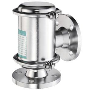 tank breather valve / low-pressure / for vacuum / flange