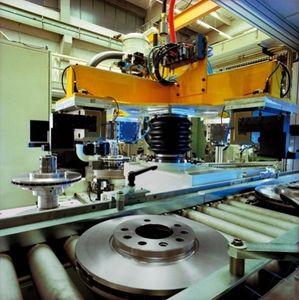 vertical balancing machine / dynamic / for brake discs / flywheel