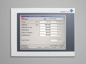 control terminal with touch screen
