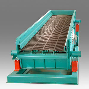 circular vibrating screener / for bulk materials / process / double-deck