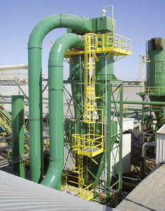 cyclone dust collector / pulse-jet backflow / compact
