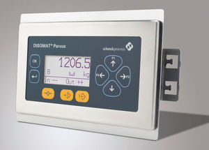 LCD display weight indicator / panel-mount / IP65 / stainless steel