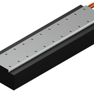 synchronous linear motor / cooled / flat