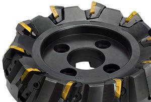 shell-end milling cutter / insert / face / high-performance