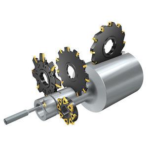 shell-end milling cutter / insert / face / slot