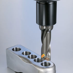 indexable insert drill bit / for cast iron / for hardened steel / for stainless steel