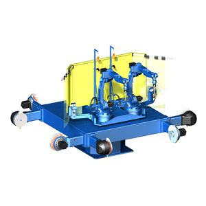 motorized welding positioner / rotary / 2-axis / for robots