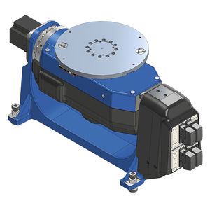 motorized welding positioner / rotary / vertical / 2-axis