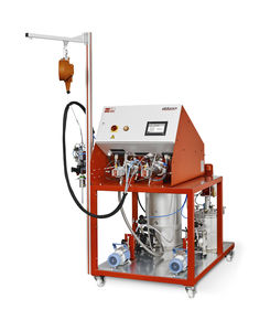 mixer-dispenser with gear pump