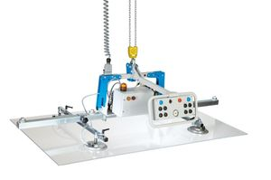 glass plate vacuum lifting device / for sheet metal / for wooden sheets / for stone slabs