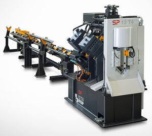 CNC punching line / hydraulic / for angle pieces / shearing