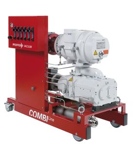 Roots pump vacuum unit