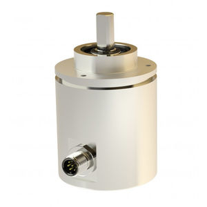 absolute rotary encoder / SSI / multi-turn / with clamping flange