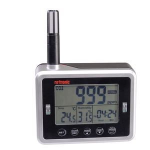 measuring device with data logger / temperature / CO2 concentration / relative humidity