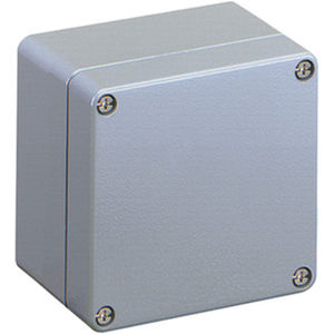 wall-mount enclosure / rectangular / aluminium / powder-coated steel