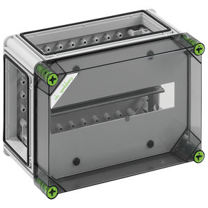 circuit breaker electrical enclosure / wall-mounted / polycarbonate / with transparent cover