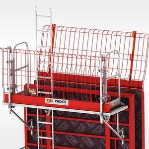 work platform / for formwork / with safety railing