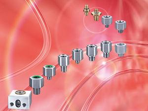threaded adapter / stainless steel / aluminum / zinc-plated steel