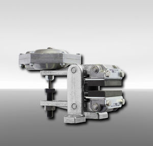disc brake caliper / with pneumatic release / spring activated