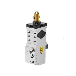 pneumatic clamp / compact / with centering pin