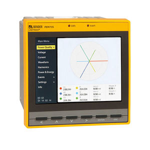 power quality measuring instrument / AC / voltage / graphic display