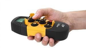 radio remote control / joystick / compact / for cranes