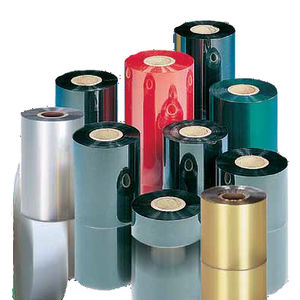 label printer thermal transfer ribbon / wax-based / resin-based