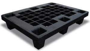 plastic pallet / ISO / industrial / interlocking