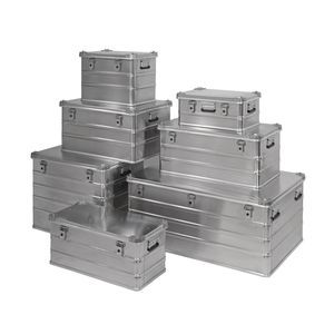 aluminum crate / transport / lid stacking / with handles