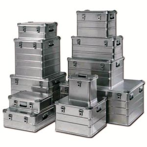 aluminum crate / storage / transport / protection