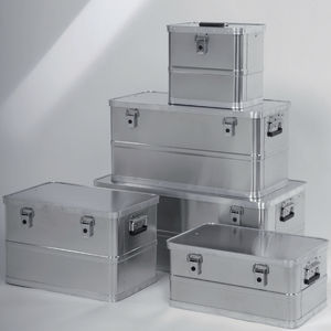 aluminum crate / storage / transport / lid stacking