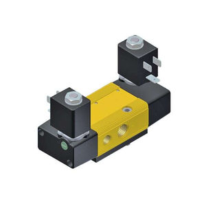 spool pneumatic directional control valve / solenoid-operated / pilot-operated / 5-way