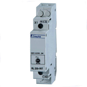 steady indicator light / LED / DIN rail