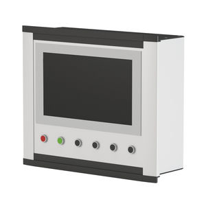 panel-mount enclosure / modular / aluminum / control
