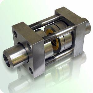 flange adaptor seal / steel / stainless steel / elastomeric
