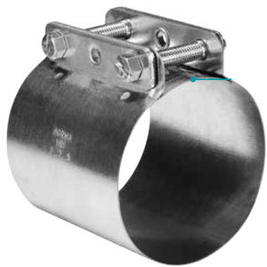 cast iron hose clamp / bolt / band / smooth