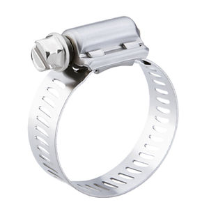 stainless steel hose clamp / screw / perforated band / for automotive applications