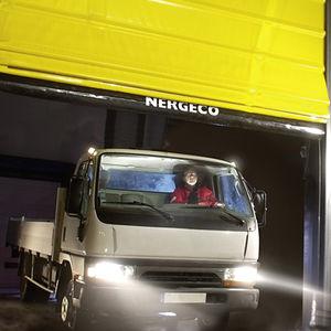 fold-up doors / PVC / exterior / high-speed