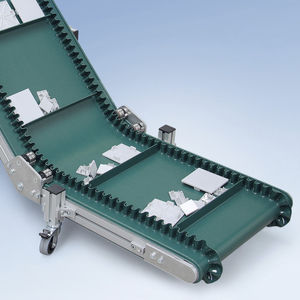 belt conveyor / bulk products / for boxes / for small parts