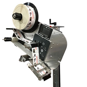 wipe-on label applicator / for self-adhesive labels / top / side