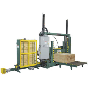 automatic strapping machine / for lumber / for wooden panels